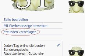 Reichweite.de bei Facebook Freunden vorschlagen