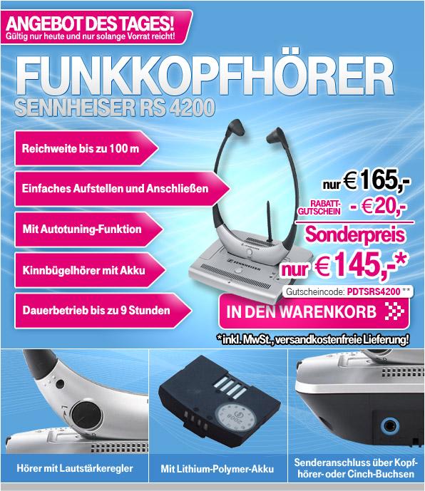 sennheiser rs 4200 tv funkkopfh rer f r. Black Bedroom Furniture Sets. Home Design Ideas