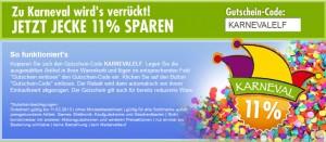 Elf Prozent Karneval-Rabatt bei bol.de<a href=
