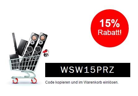 15 Prozent Rabatt bei Teufel.de