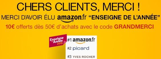 10 Euro Gutschein für Amazon.fr
