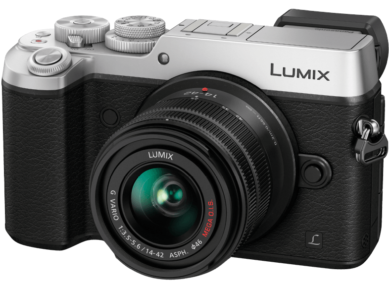PANASONIC-Lumix-DMC-GX8KEG-S-Systemkamera--20.3-Megapixel--Live-MOS-Sensor--Near-Field-Communication--WLAN--14-42-mm-Objektiv--Autofokus--Bildstabilisator--Silber