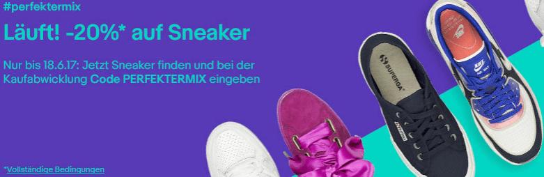 20 Prozent Rabatt auf Sneaker