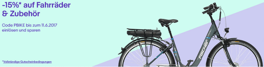 15 Prozent Rabatt auf Fahrräder