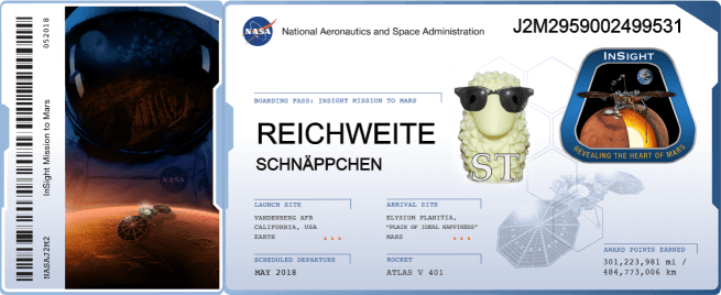 Gratisticket für Insight Marsmission